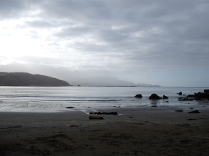 Southeast view from Lyall Bay Parade.  - Lyall Bay, Wellington